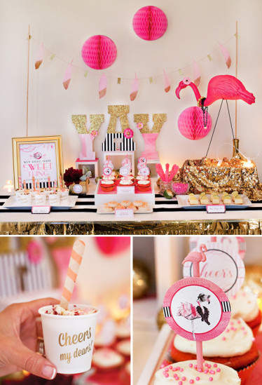 girls night in hens wedding party ideas supplies decorations girls pink