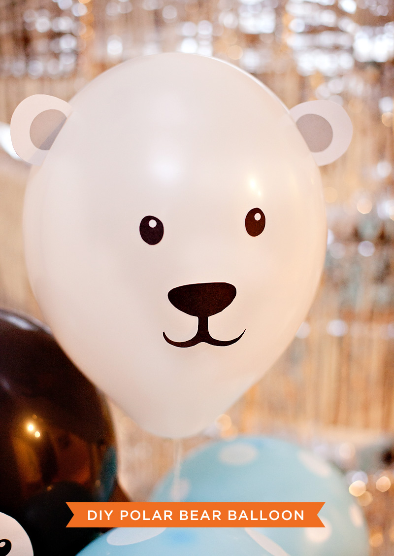 diy animal balloons penguin polar bear decorations