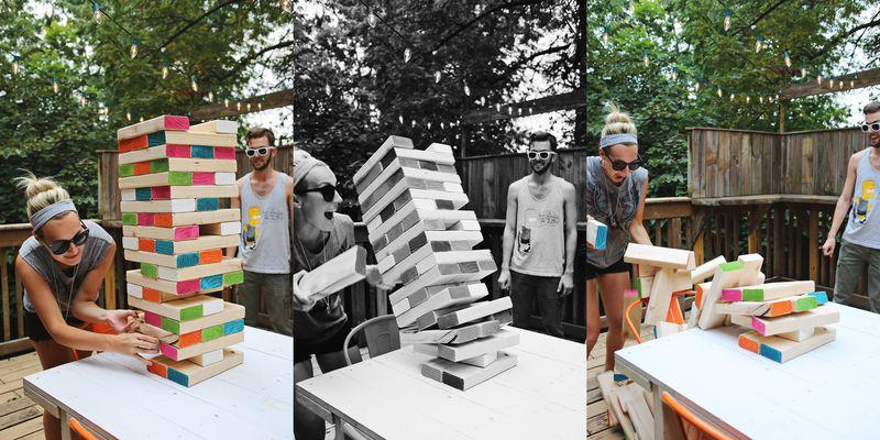 jenga party fun idea birthday
