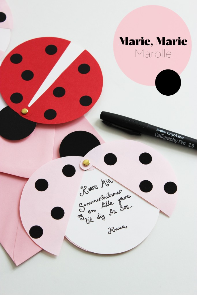 lady beetle diy party invitations