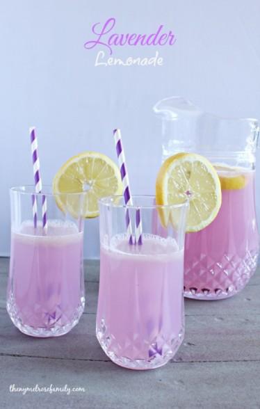 lavender lemonade DIY party drink supplies purple