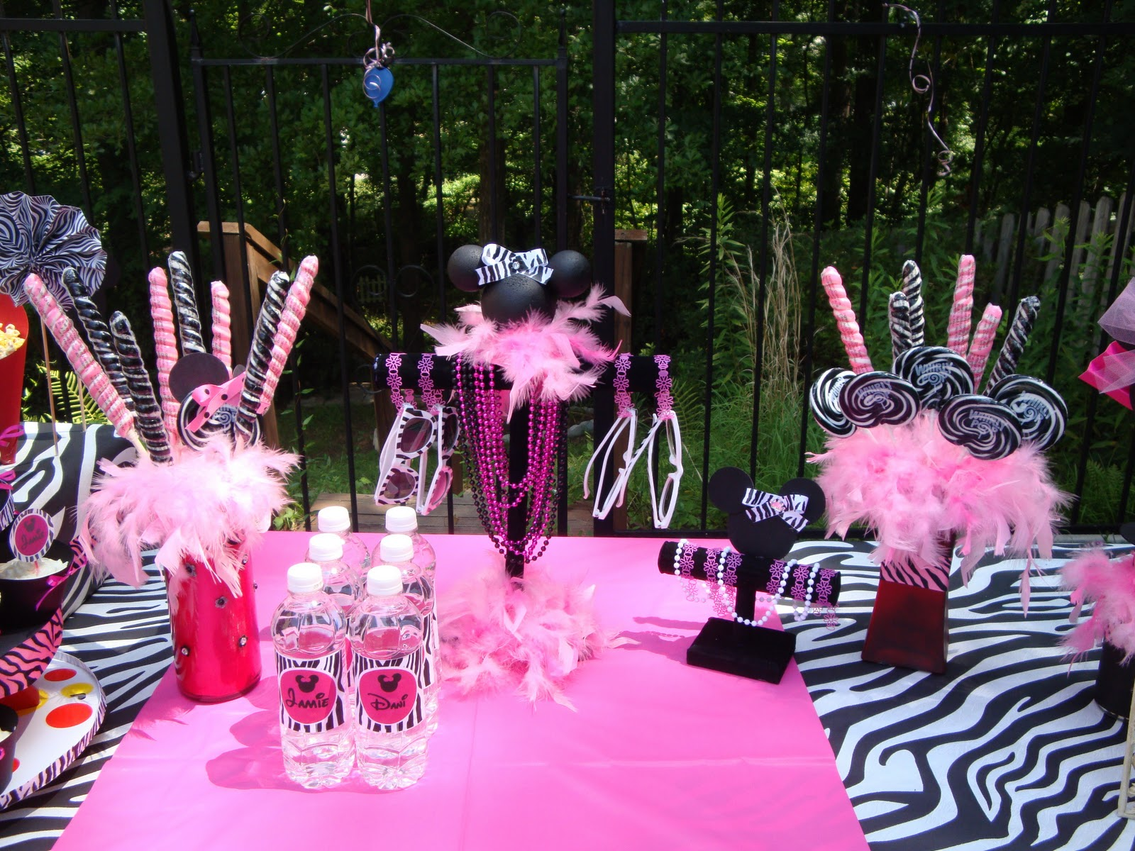 pink zebra print party ideas the party people online magazine