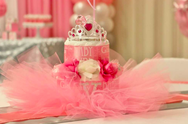 girls baby shower royal party idea theme decorations pink DIY