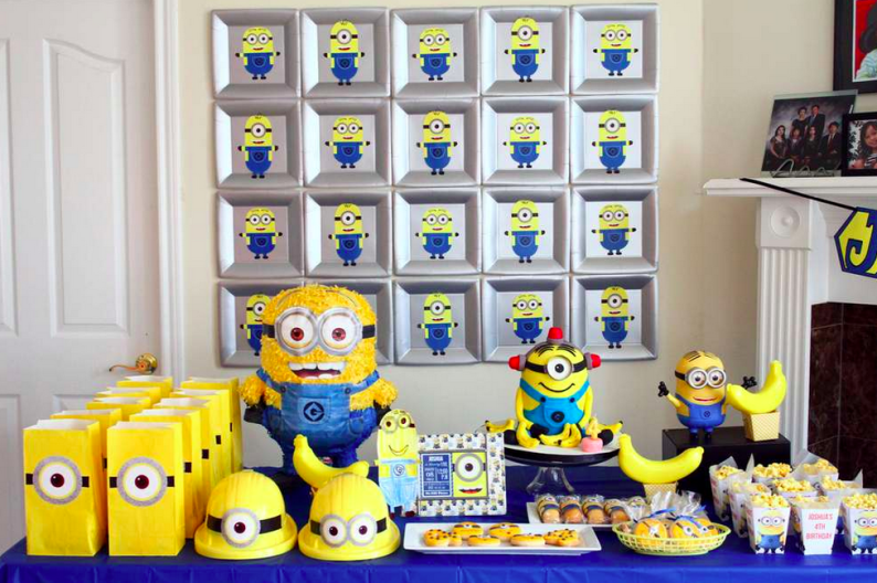 Minions Birthday Party Supplies Theme Idea Boy Girl Food Decorations