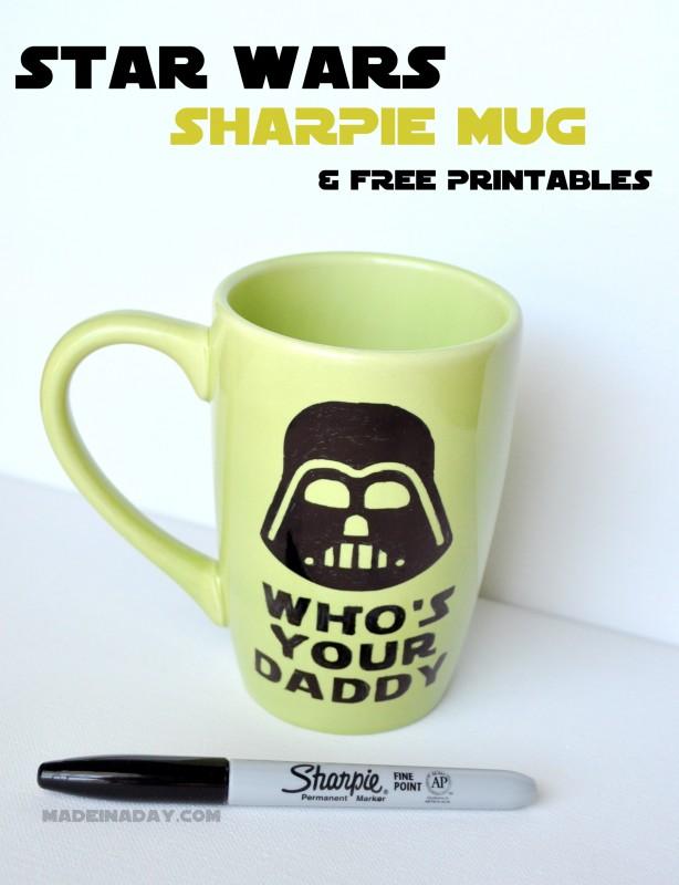 darth vader diy mug star wars party