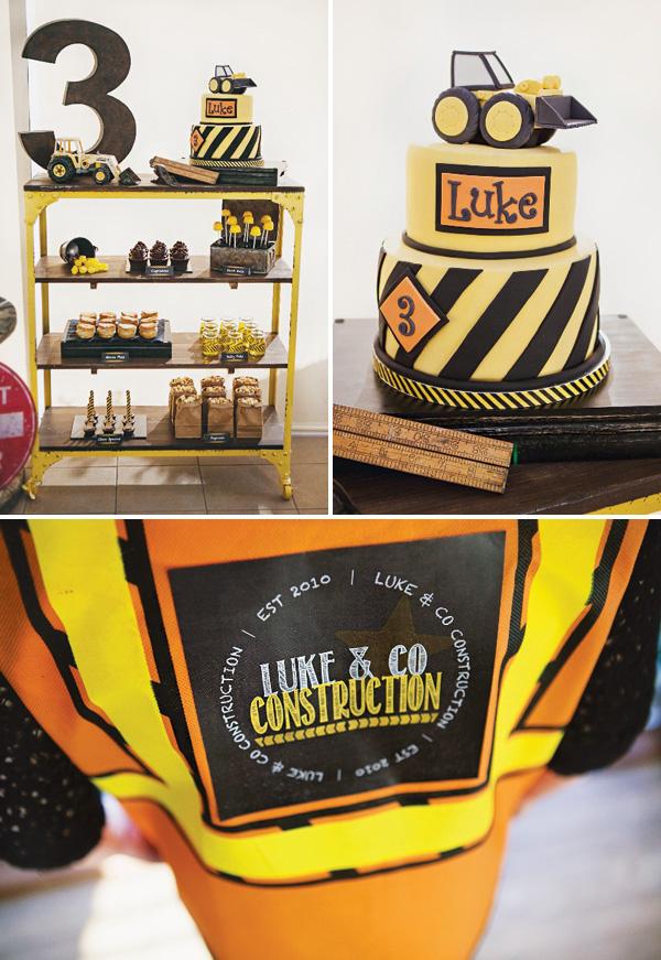 Construction School Party Boys Theme Idea DIY Black Yellow