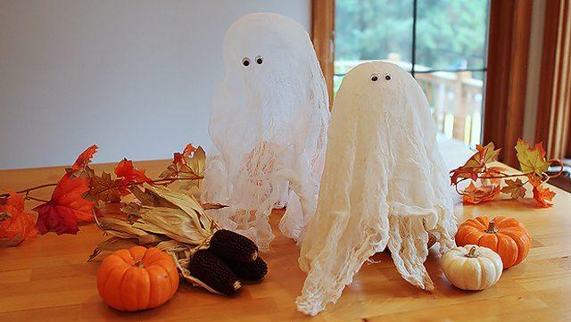 DIY ghost halloween party supplies