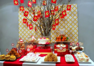 Chinese New Year Party Idea Celebration DIY Decoration Party Supplies