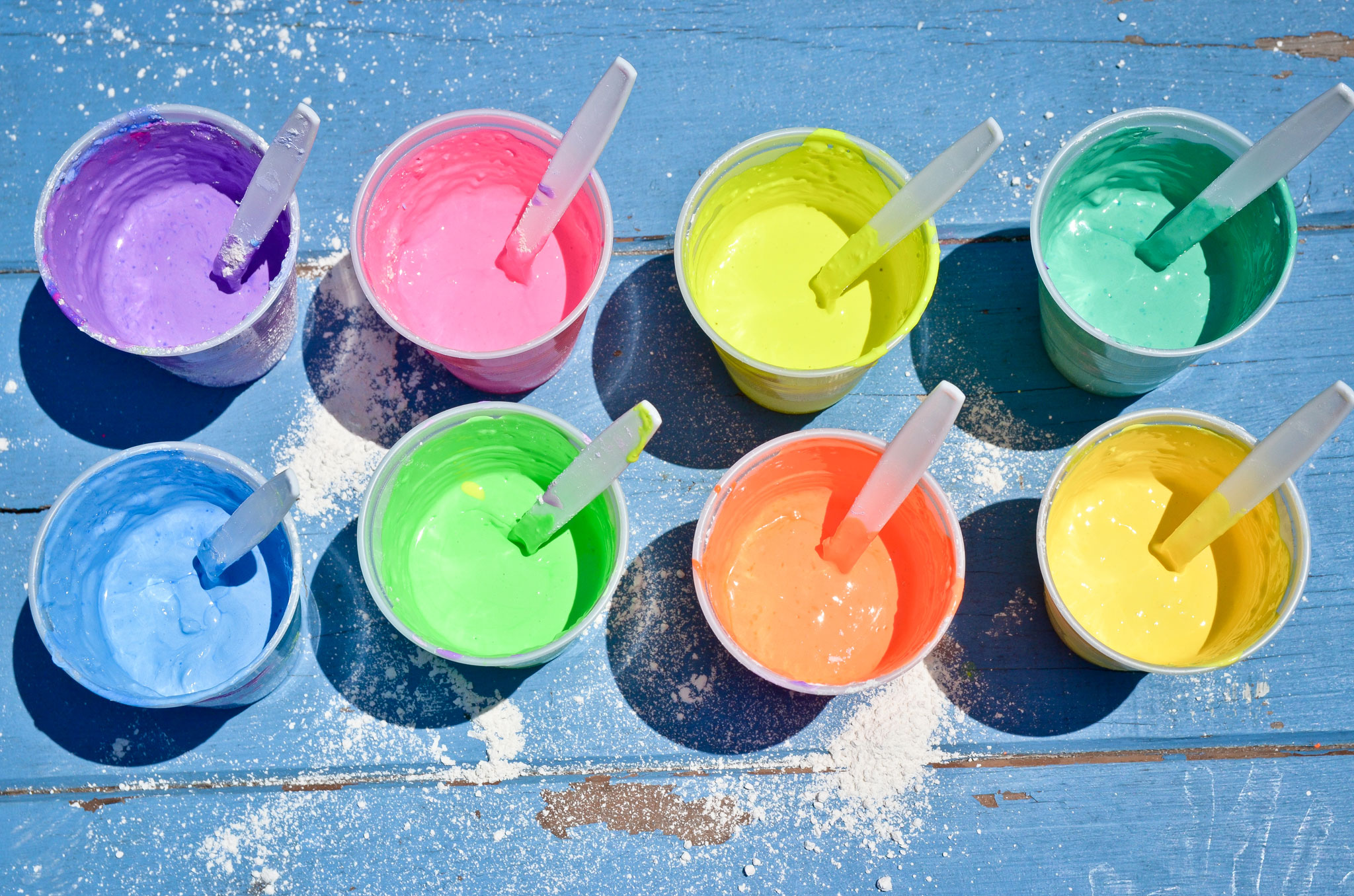 diy chalk pops for kids party