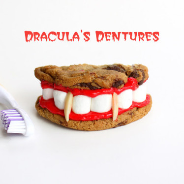 dracula teeth cookie party food halloween