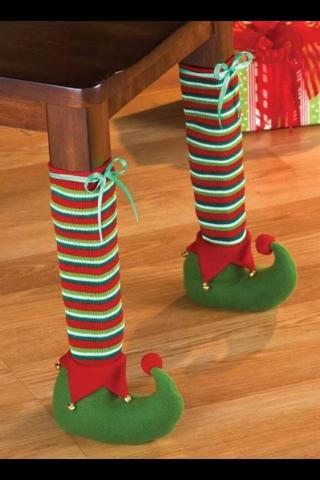 DIY Christmas Elf Legs