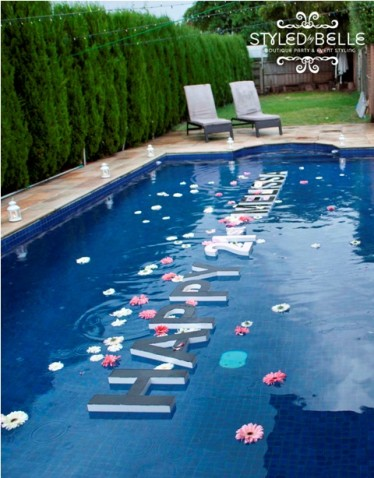 Outdoor Pool Decorations