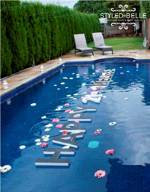 Outdoor pool decor the party people online magazine for Garden pool decoration
