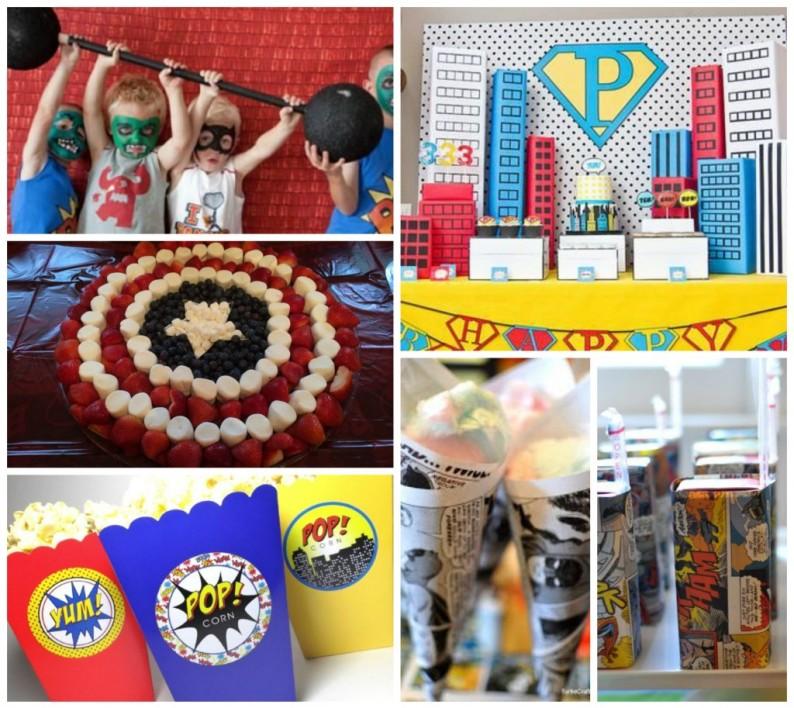 superhero boys party ideas theme supplies decorations