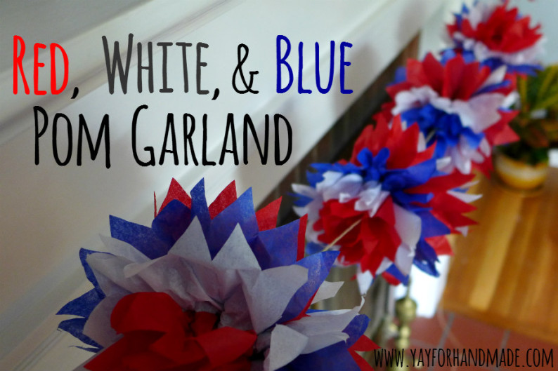 Diy red white blue garlands the party people online for Australia day decoration