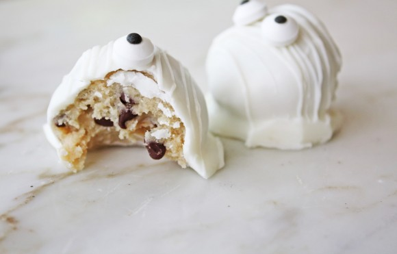 ghost halloween cookie dough party recipe