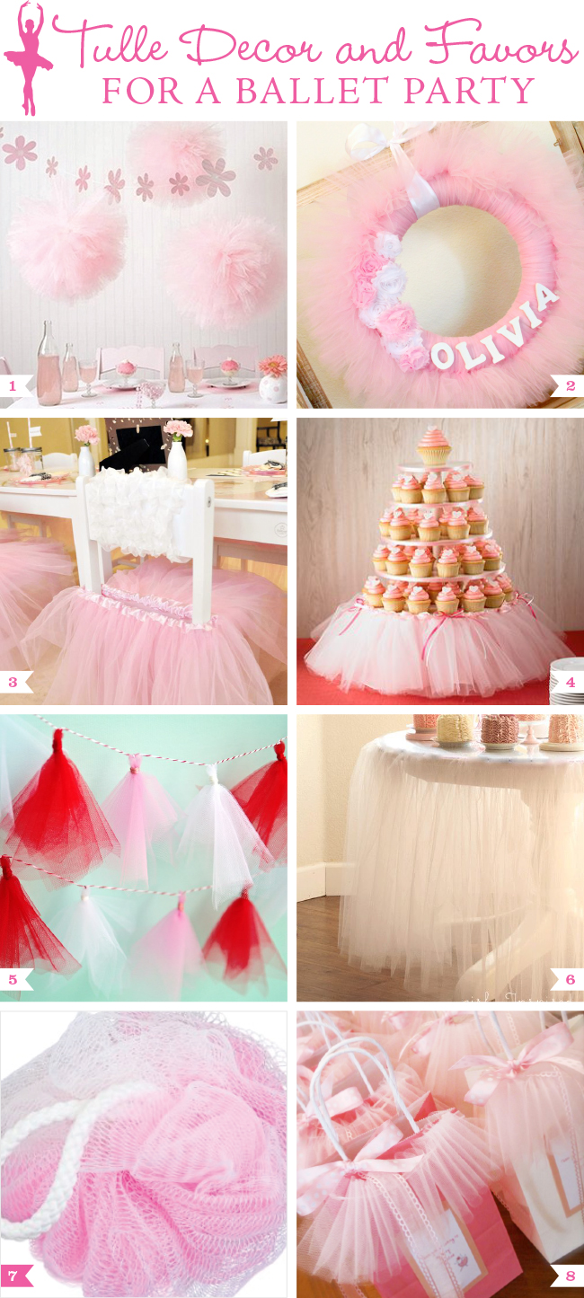 A pretty girly themed party the party people online for Ballerina birthday decoration ideas