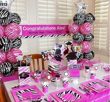 zebra hot pink decor