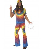Adult Costume - Groovy Tie Dye Top and Flares