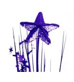 Pick, Onion with 3D Star - Purple
