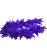 Feather Boa - Short, Purple