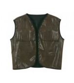 Vest - Faux Brown Leather, Cowboy