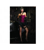 Corset - Black/Fuchsia, Betty