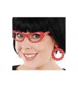 Earrings - 50's Clip-on Red