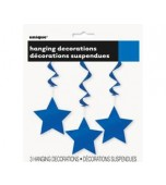 Ceiling Decoration - Shooting Stars 3 pk Blue