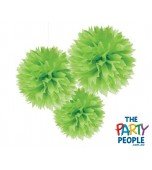 Ceiling/Hanging Decoration - Fluffy, K Green 3 pk