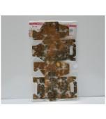 Bonbonniere Boxes - Gold Damask, Large 10 pk