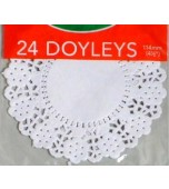 Doilies 114 mm, Round 24 pk