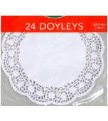 Doilies 267 mm, Round 24 pk