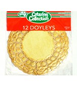 Doilies 215 mm, Round Gold 12 pk