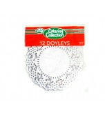 Doilies 215 mm, Round Silver 12 pk