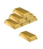 Decoration - Gold Bar 6 pk