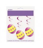 Ceiling Decoration - Easter Swirl 3 pk