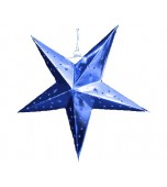 3D Star Blue 30 cm