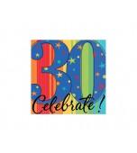 Beverage Serviettes, Celebrate 30