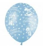 "Balloon - Latex, Print 11"" Christening Animals"