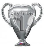 Balloon - Foil Super Shape, Silver Trophy